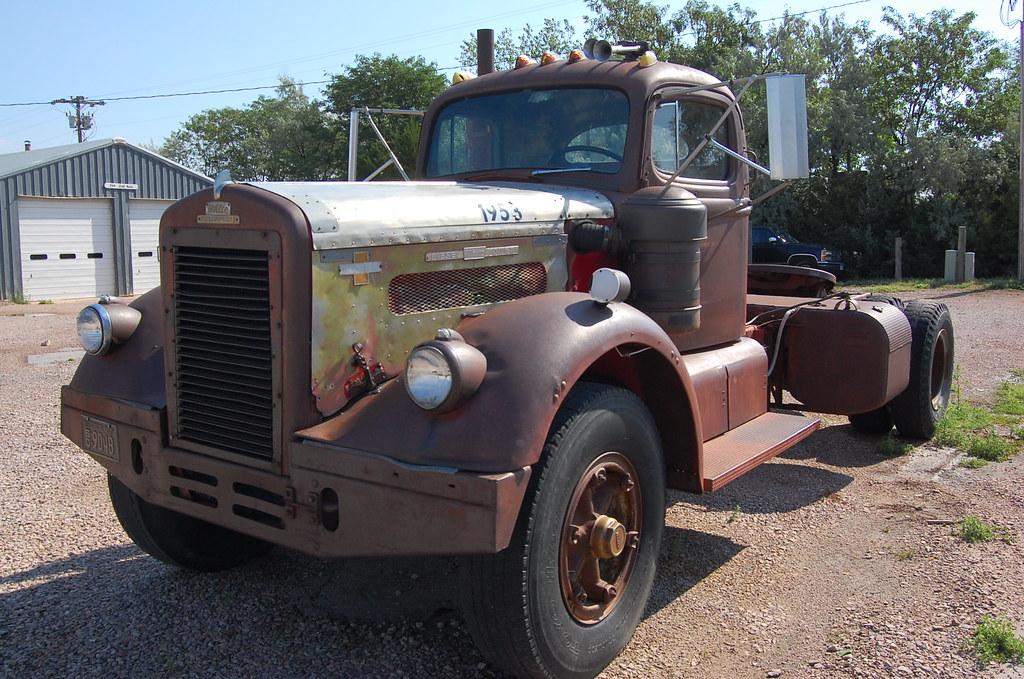 white diesel semi truck 1953 wall drug sd gwhawes flickr