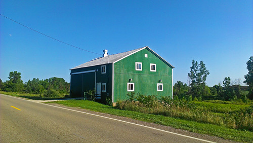 Little green barn | by Larry the Biker