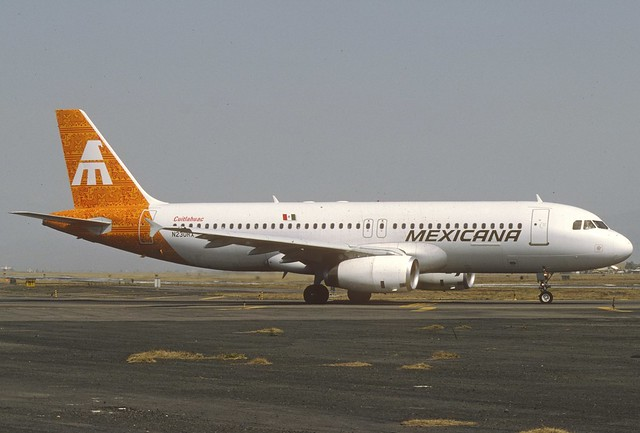 Mexicana Airbus A320-231; N230RX, March 1992