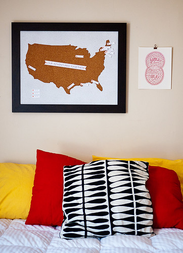 Travel Map Pin Board DIY 12 | by CieraHolzenthal