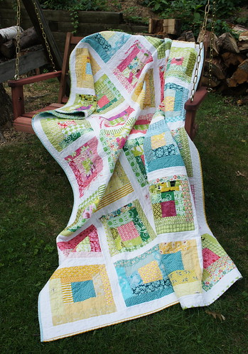 Sherbet Log Cabin Quilt | by Cut To Pieces