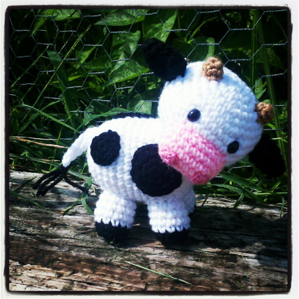 ...and done! Moo cow pattern complete! #crochet #amigurumi ...
