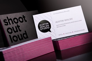 Austin Walsh Studio Business Card | by Whiskey Design