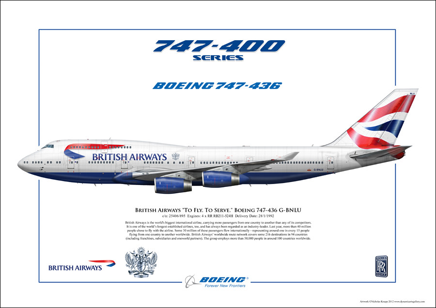 british airways to fly to serve 747 gbnlu realistic