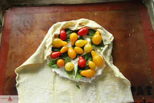 Cherry Tomato amd Ricotta Crostata | by Heather Christo