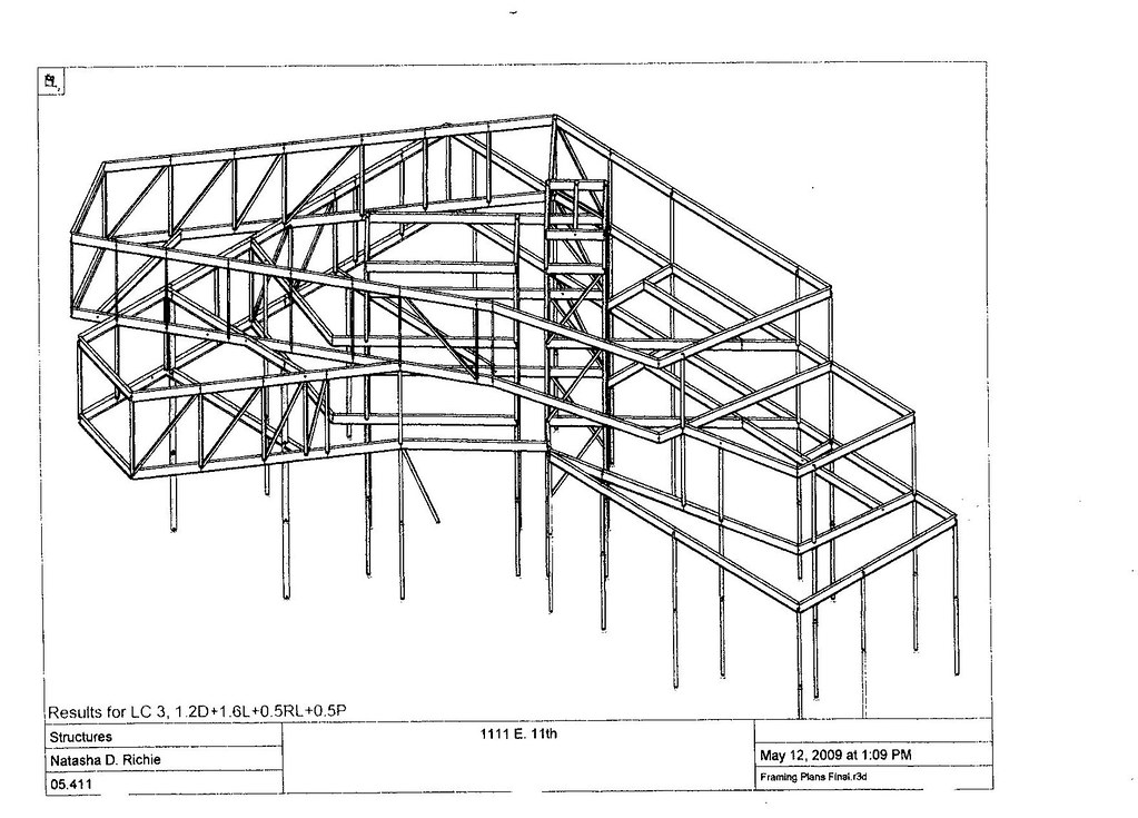 ... E. 11th St. Mixed Use. Structural Framing Diagram   By Bercy Chen