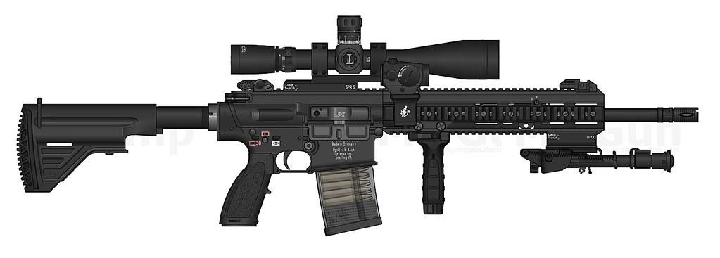 Heckler & Koch HK-417 | Heckler & Koch HK-417 scout rifle ...