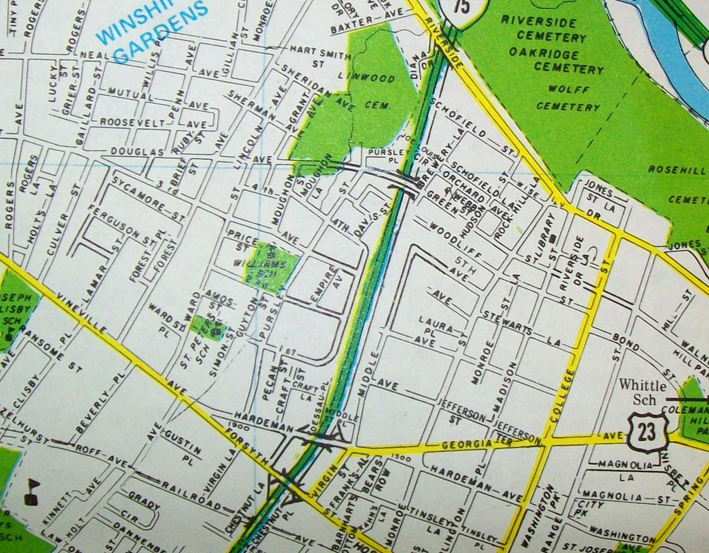 Macon GA Map By Dolph Map Co Published For A Local M Flickr - Georgia map macon