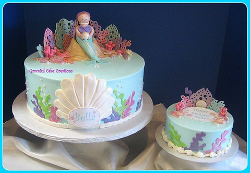 Mermaid Birthday Cake With Small Smash Cake Everything