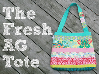 Fresh AG Tote ~ Pattern for the Art Gallery Fabrics Fat Quarter Gang | by Fresh Lemons : Faith