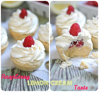 Raspberry Lemon Cream Tarts | by laurenslatest