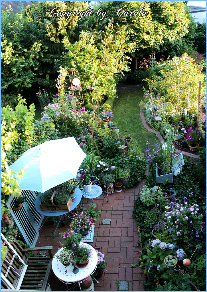 a new birdseye view of my small row cottage garden flickr. Black Bedroom Furniture Sets. Home Design Ideas