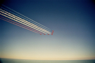 The Red Arrows over Hastings beach | by johnnyh