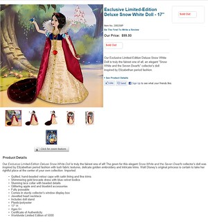 2009 Exclusive Limited-Edition Deluxe Snow White Doll - 17'' - Disney Store - Product Page Screenshot | by drj1828
