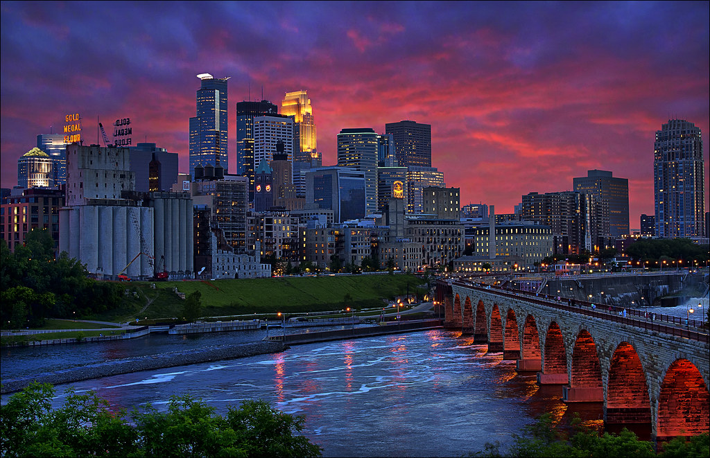 Best View of the Downtown Minneapolis Skyline - Let There