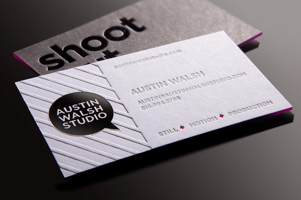 Austin walsh studio business card custom paper 3 layers o flickr austin walsh studio business card by whiskey design colourmoves