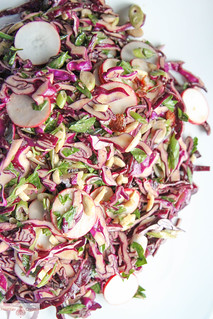 Red Cabbage, Bacon and Avocado Salad | by Heather Christo