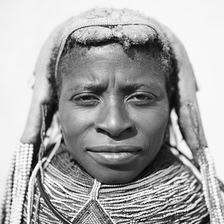 Mwila Woman With Vilanda Necklace At Huila Town Market, Angola | by Eric Lafforgue