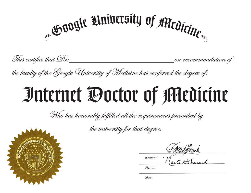 Google University of Medicine Degree | For those who play ...
