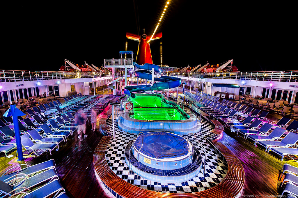 The Lido Deck Carnival Paradise Ship Every Night The