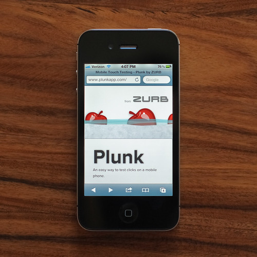 Plunk Mobile Page | by ZURBinc
