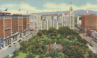 pershing square aerial view postcard | by richardschave