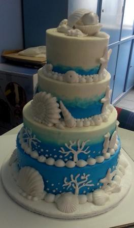 sea themed wedding cakes sea themed wedding cake with fondant seashells willi 19719