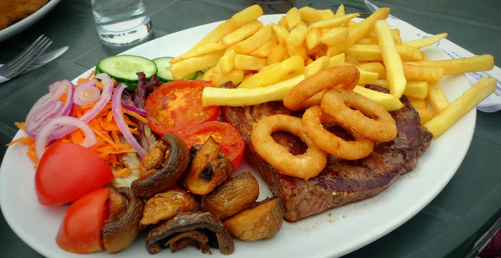Steak And Chips Steak And Chips With Onion Rings
