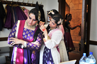 Akademi dancers get ready for the performance | by UK Parliament