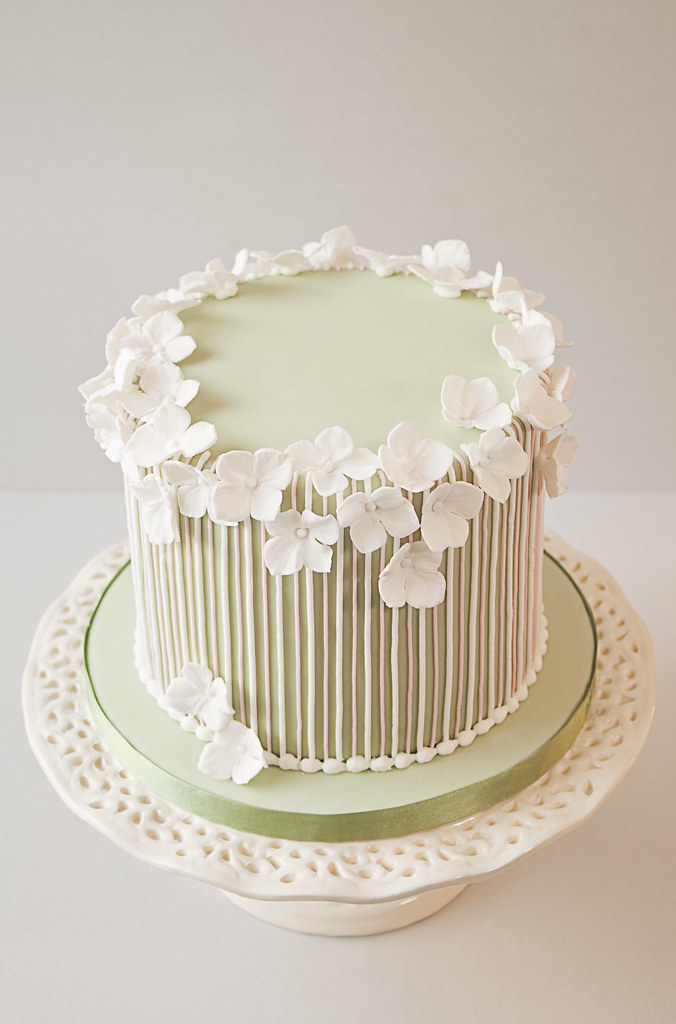 Striped Birthday Cake