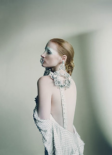 "Jessica Chastain in Givenchy Haute Couture- ""The New Guard:Jessica Chastain"" by Paolo Roversi for W Magazine May 2012 