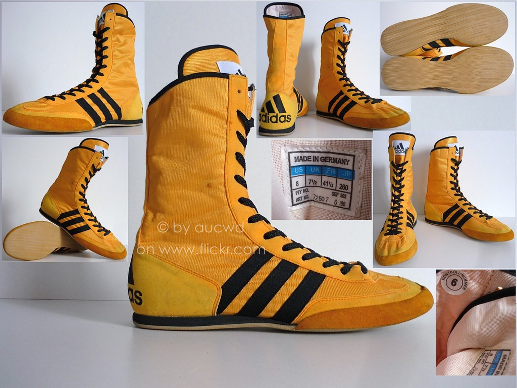 Yellow Adidas Boxing Shoes