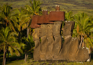 Moais In Ahu Nau Nau At Anakena Beach, Easter Island, Chile. | by Eric Lafforgue