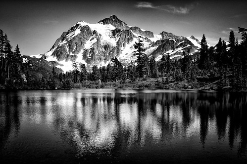 Mt. Baker #2 - View of Mt. Sushkan from Picture Lake | by . Jianwei .