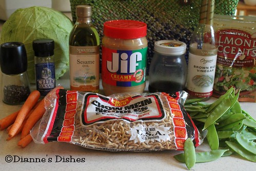 Asian Peanut Salad: Ingredients