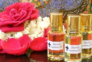 Pure Jasmine Oil Absolute Perfume - All Natural Aromatherapy Essential Oil ~ Bridal Perfume | by Naomi King
