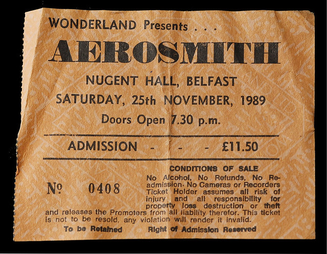 Knit And Stitch Show Kings Hall Belfast : Aerosmith, Kings Hall, Belfast 1989 Good show. The band we? Flickr