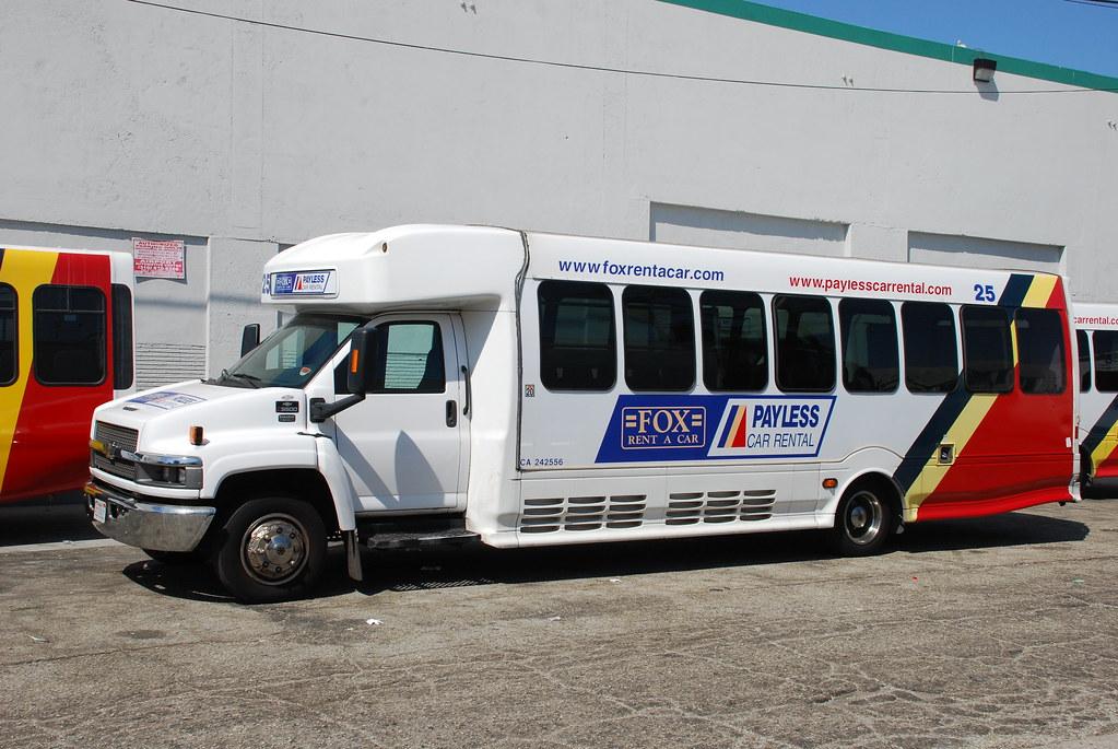 Payless Fox Rent A Car Chevrolet Minibus Near Los Angeles Flickr