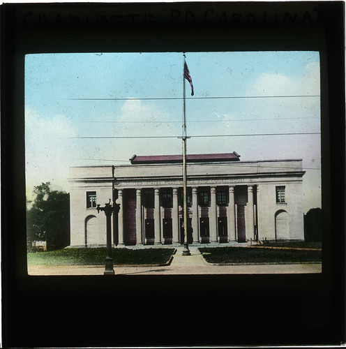 United States Post Office and Court House, Charlotte, North Carolina (Lantern Slide) | by British Postal Museum & Archive