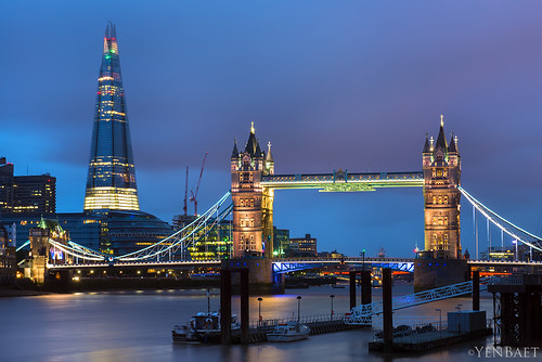London - Rainy Twilight at The Shard and Tower Bridge | by Yen Baet