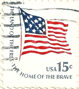 Usa stamp 1978 the land of the free the home of the for How to get free land in usa