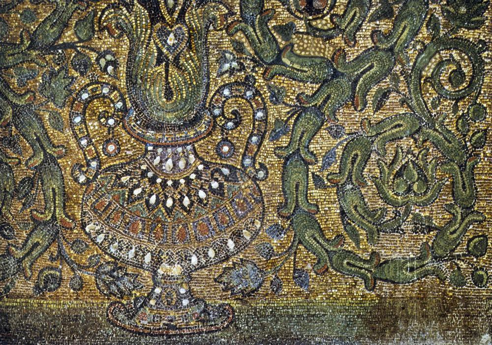 Dome of the Rock (Jerusalem): Interior: Mosaic panel with ...