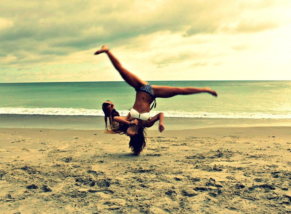 Beach Gymnastics Tumblr Beach Bikini Cheer Gymnastics