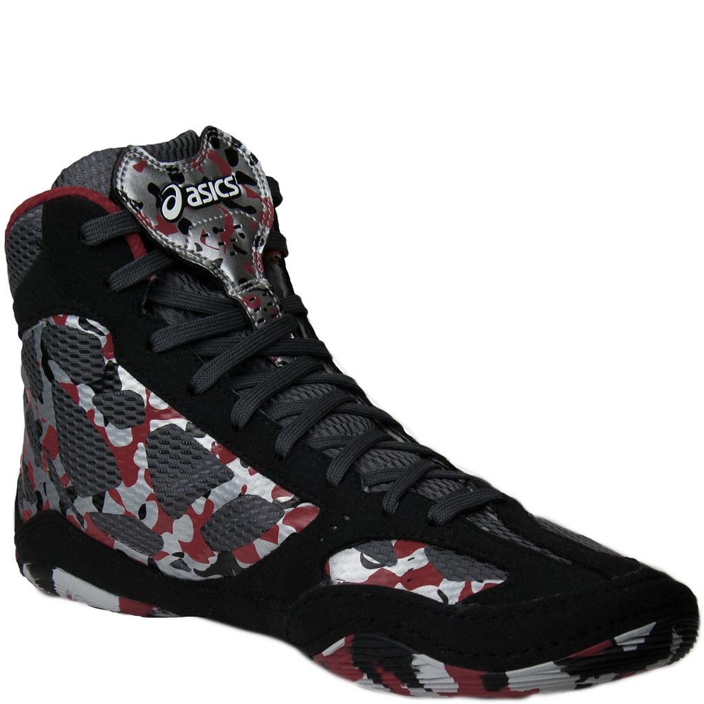 Asics Red Camo Wrestling Shoes Camo Wrestling Shoes Black