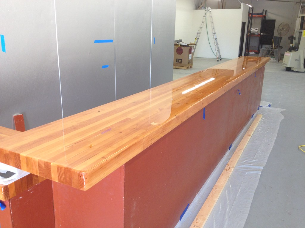 ... Bar Top With Lacquer Finish | By HelmsBrewingCo