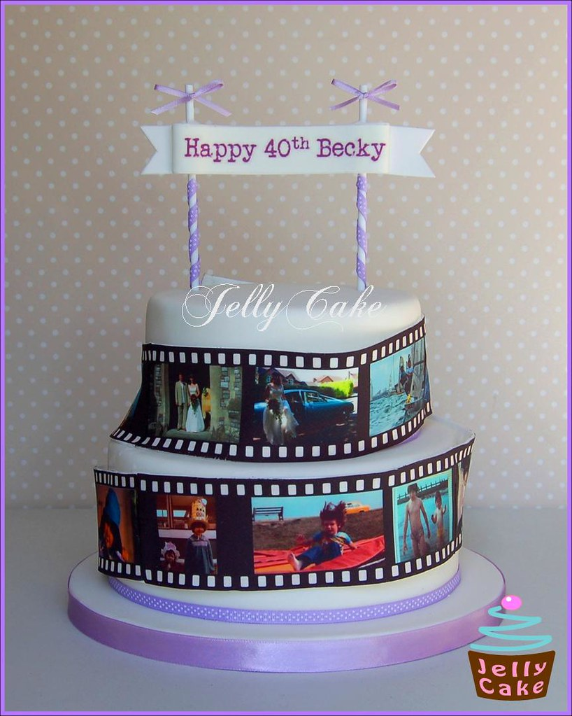 Film Strip 40th Birthday Cake Created for my friends 40th Flickr