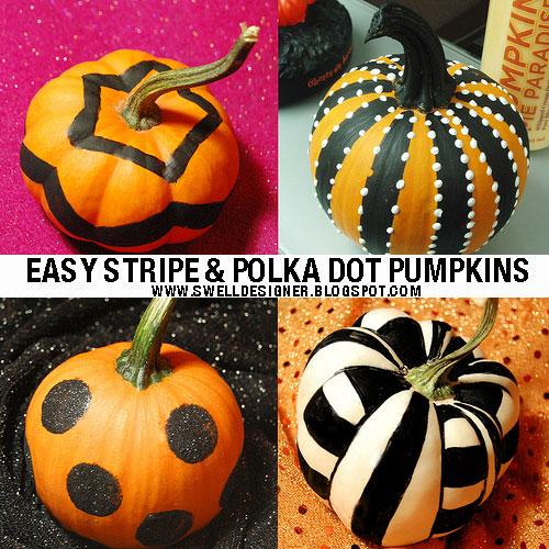 stripe polka dot pumpkins flickr