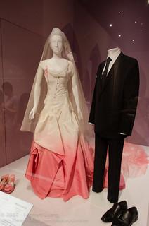 Gwen Stefani's wedding dress | Wool suit, shirt and tie