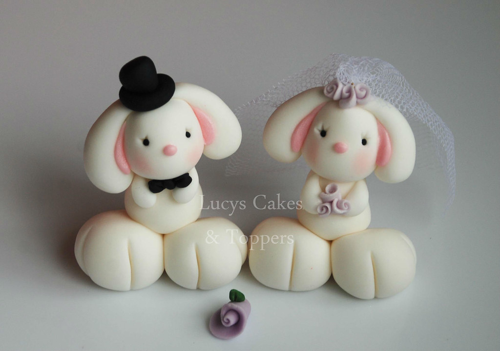 bunny wedding cake topper bunny rabbit and groom wedding cake topper visit 12223