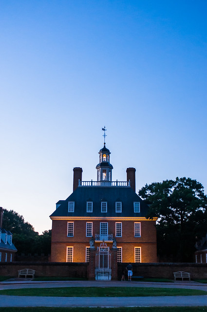 The Governor's Palace at Dusk.